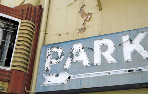 park sign alexandria theater san francisco